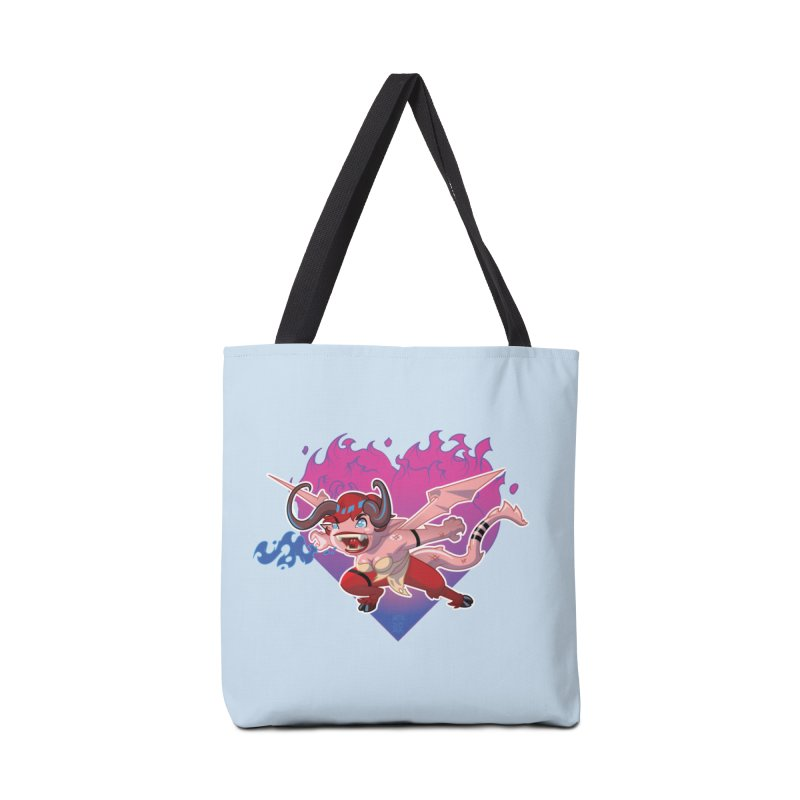 Heart Burn Accessories Bag by Little Ninja Studios