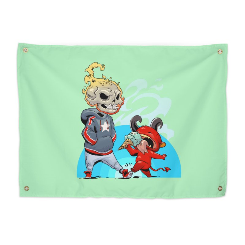 Trip Home Tapestry by Little Ninja Studios