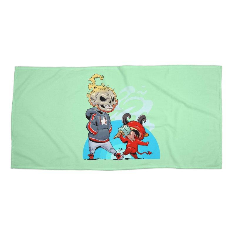 Trip Accessories Beach Towel by Little Ninja Studios