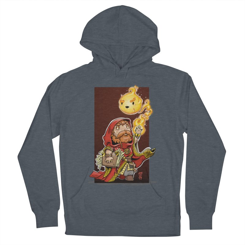 Pyromancer Men's French Terry Pullover Hoody by Little Ninja Studios