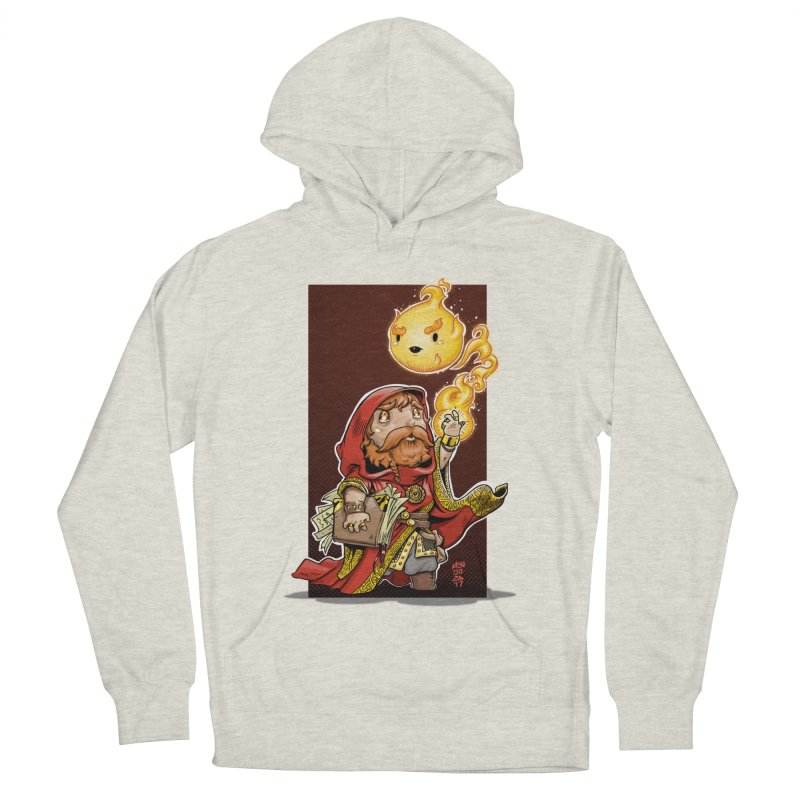 Pyromancer Men's French Terry Pullover Hoody by Little Ninja Studios, LLC