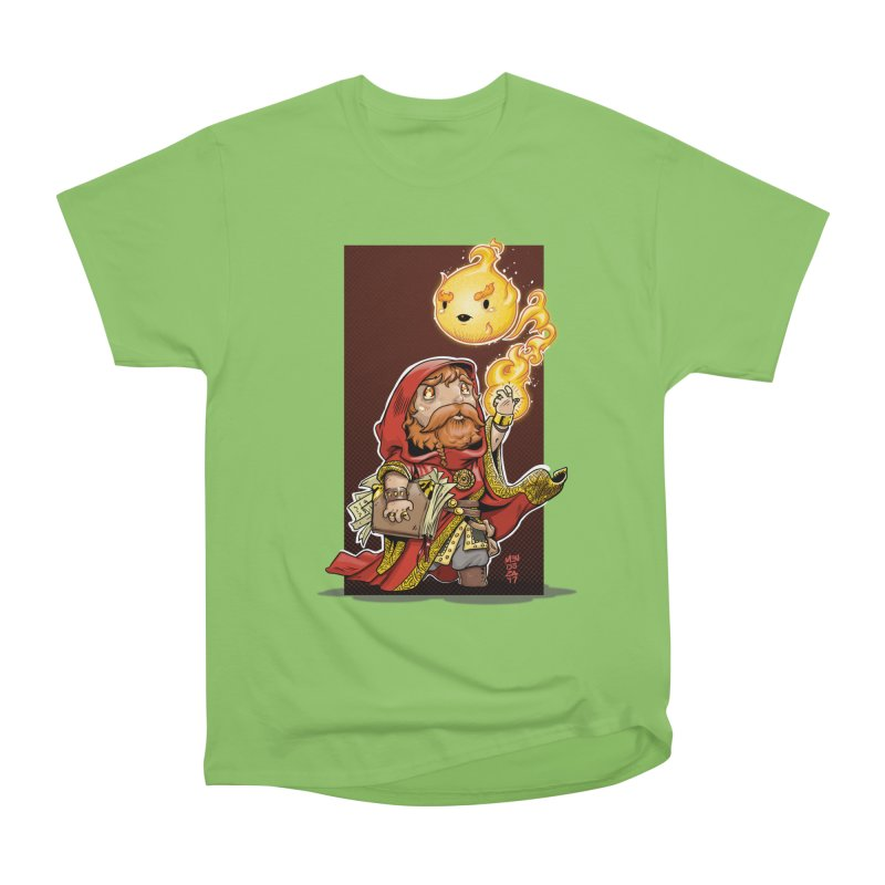 Pyromancer Men's Heavyweight T-Shirt by Little Ninja Studios