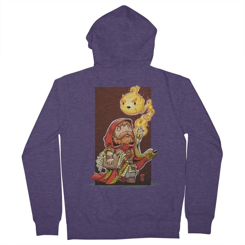 Pyromancer Men's French Terry Zip-Up Hoody by Little Ninja Studios, LLC