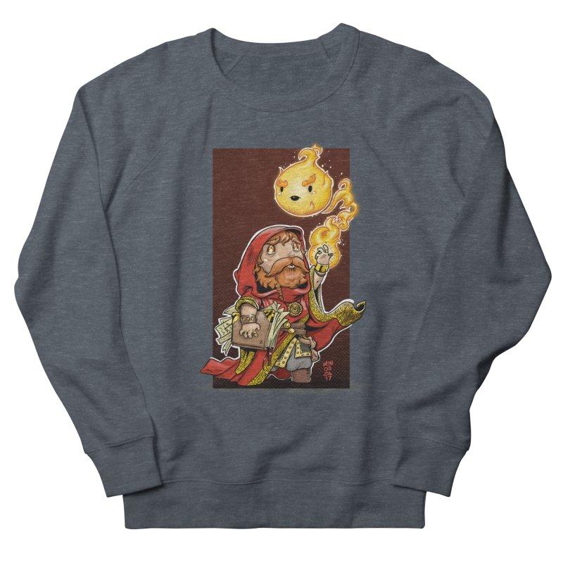 Pyromancer Men's French Terry Sweatshirt by Little Ninja Studios, LLC