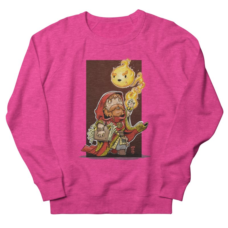 Pyromancer Men's French Terry Sweatshirt by Little Ninja Studios