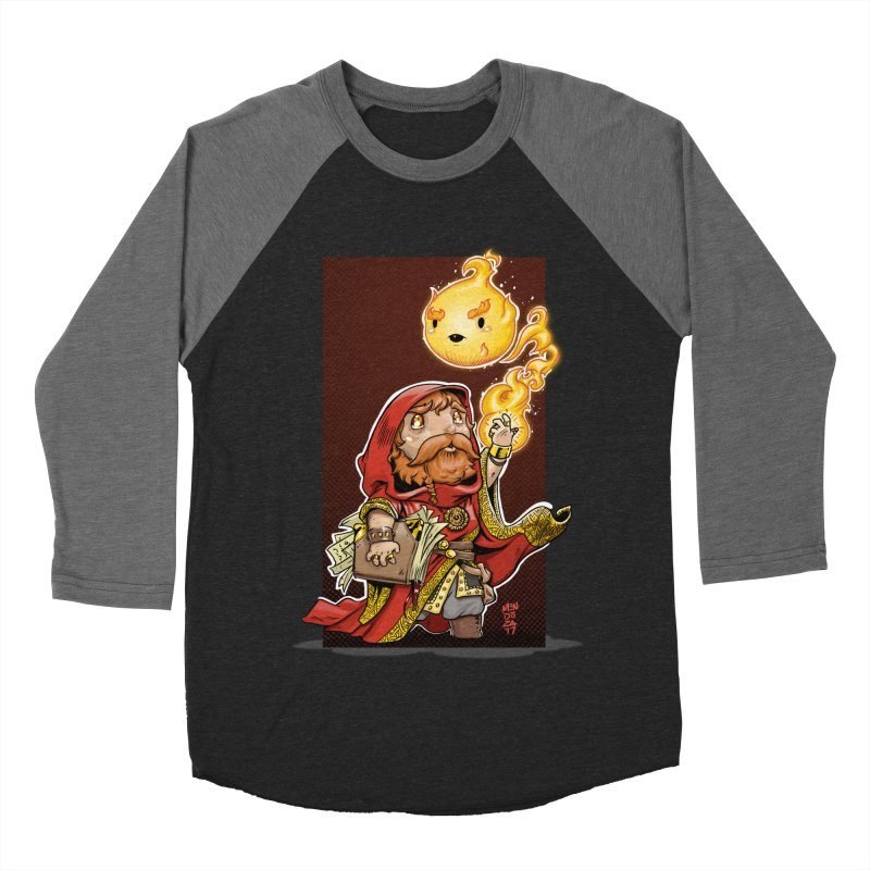 Pyromancer Men's Baseball Triblend Longsleeve T-Shirt by Little Ninja Studios, LLC
