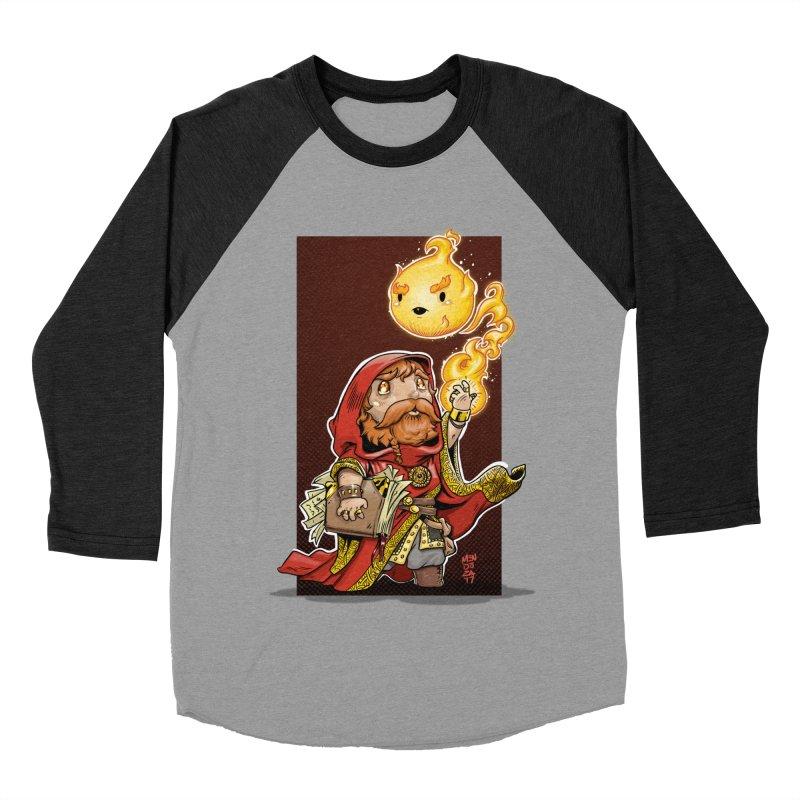 Pyromancer Men's Baseball Triblend Longsleeve T-Shirt by Little Ninja Studios, LLC