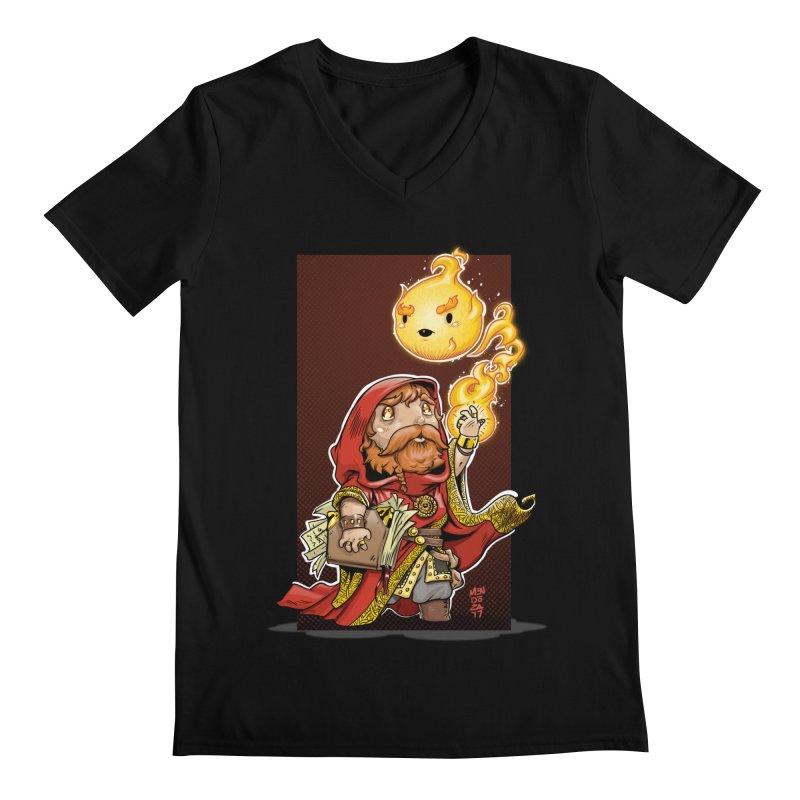 Pyromancer Men's Regular V-Neck by Little Ninja Studios, LLC