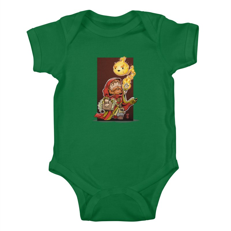 Pyromancer Kids Baby Bodysuit by Little Ninja Studios, LLC