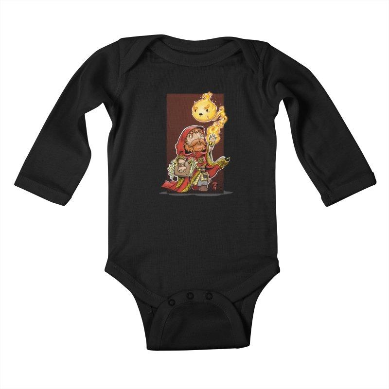 Pyromancer Kids Baby Longsleeve Bodysuit by Little Ninja Studios, LLC