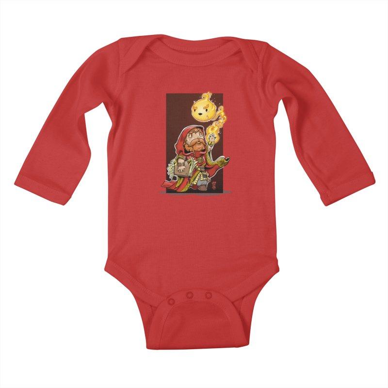 Pyromancer Kids Baby Longsleeve Bodysuit by Little Ninja Studios