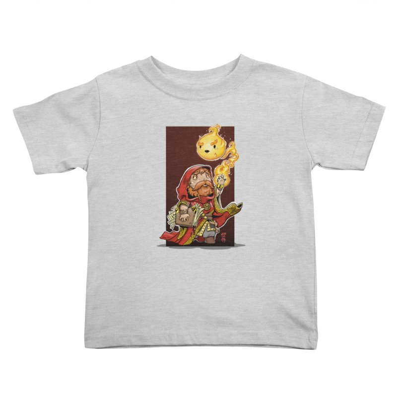 Pyromancer Kids Toddler T-Shirt by Little Ninja Studios