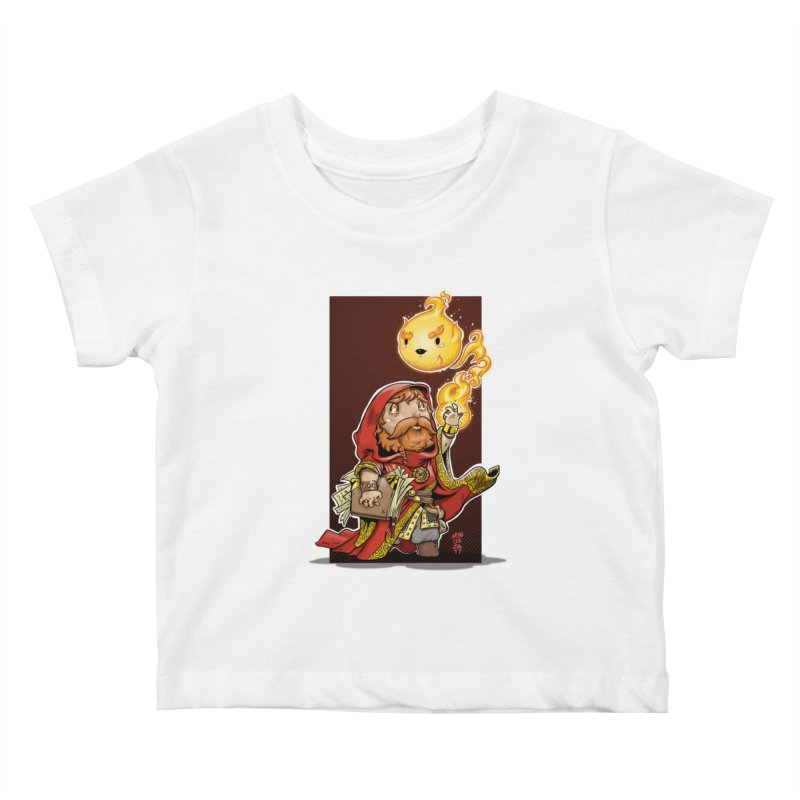 Pyromancer Kids Baby T-Shirt by Little Ninja Studios, LLC