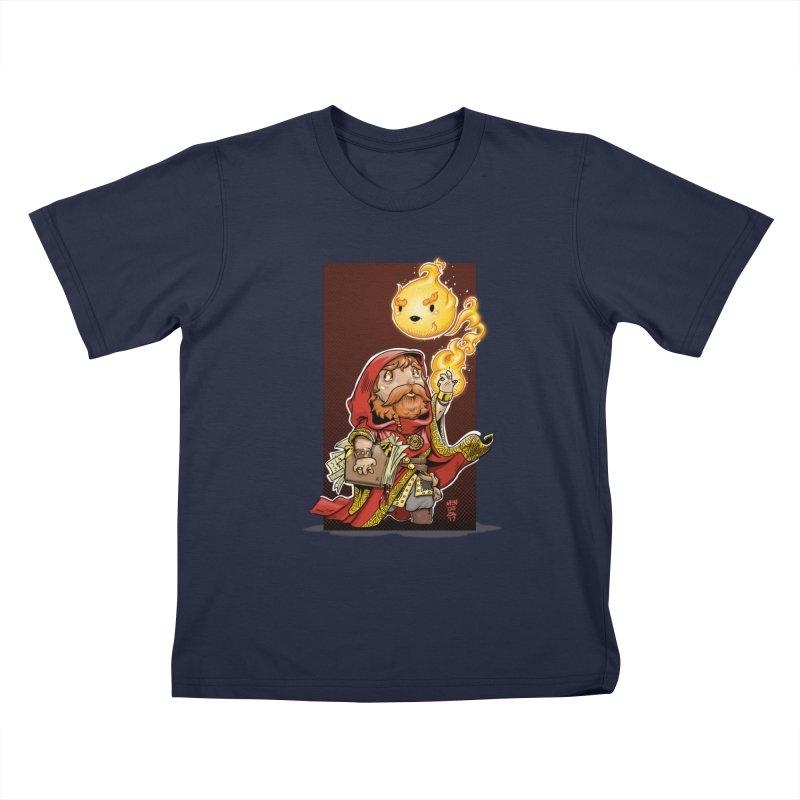 Pyromancer Kids T-Shirt by Little Ninja Studios