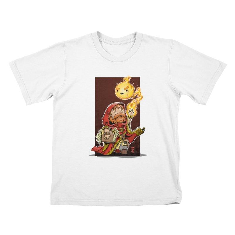 Pyromancer Kids T-Shirt by Little Ninja Studios, LLC