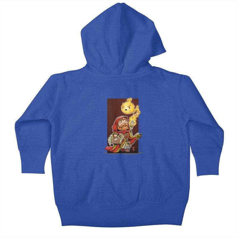 Pyromancer Kids Baby Zip-Up Hoody by Little Ninja Studios, LLC