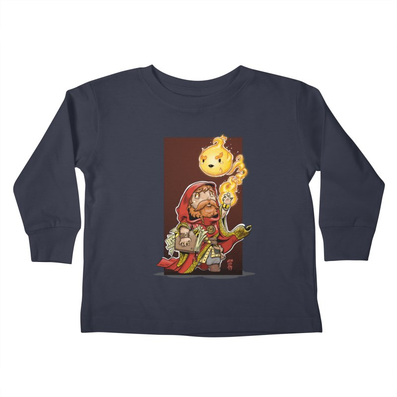 Pyromancer Kids Toddler Longsleeve T-Shirt by Little Ninja Studios