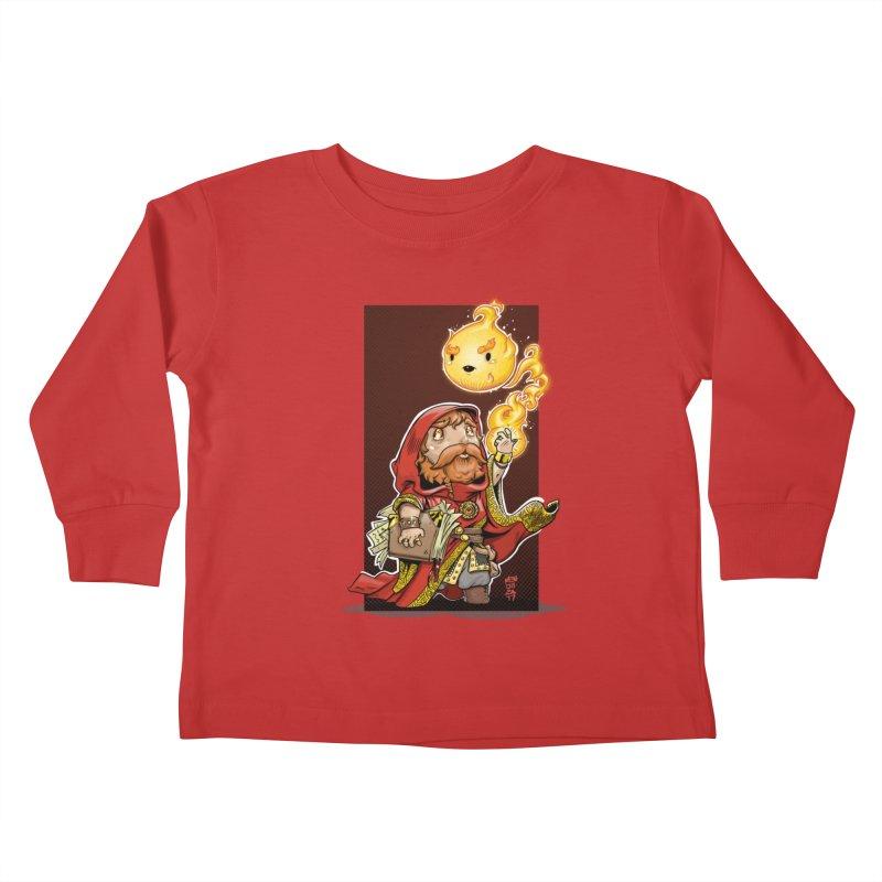 Pyromancer Kids Toddler Longsleeve T-Shirt by Little Ninja Studios, LLC
