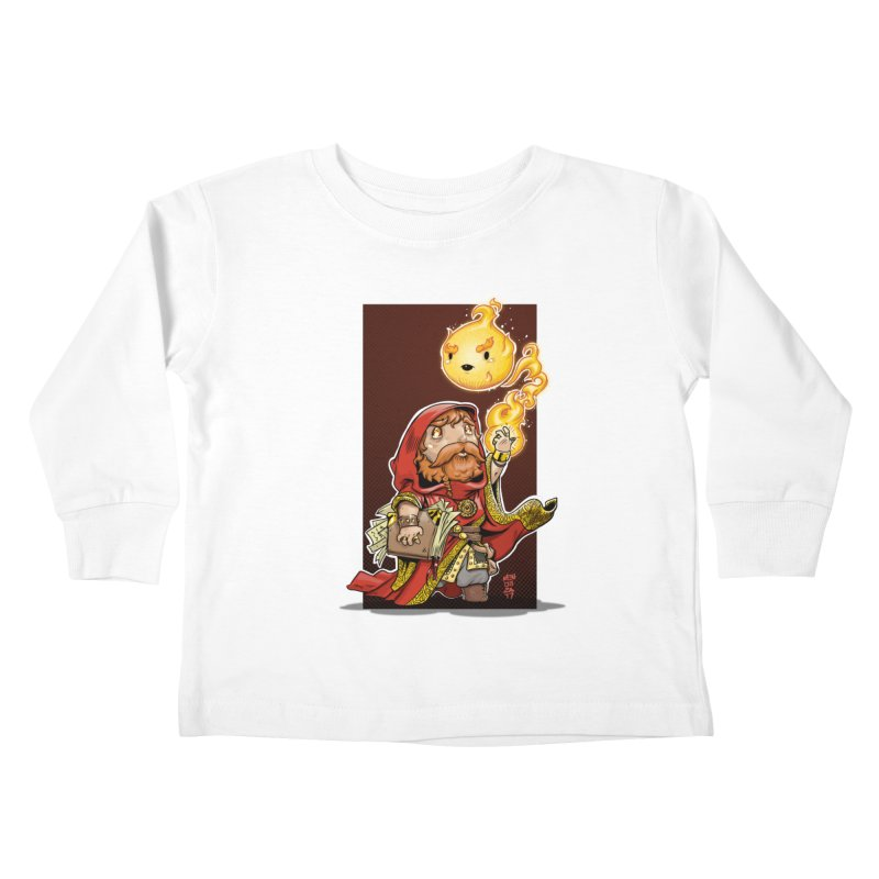 Pyromancer Kids Toddler Longsleeve T-Shirt by Little Ninja Studios, LLC