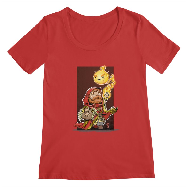 Pyromancer Women's Regular Scoop Neck by Little Ninja Studios, LLC