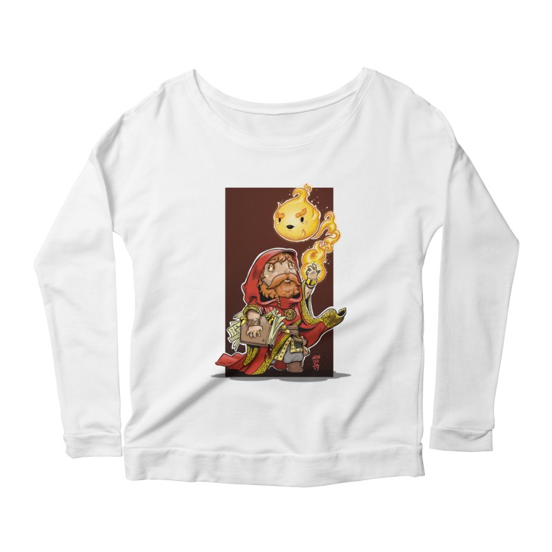 Pyromancer Women's Scoop Neck Longsleeve T-Shirt by Little Ninja Studios, LLC