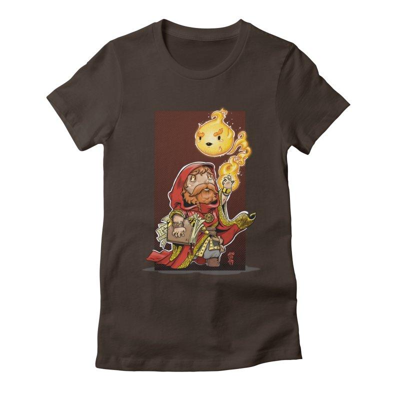 Pyromancer Women's Fitted T-Shirt by Little Ninja Studios