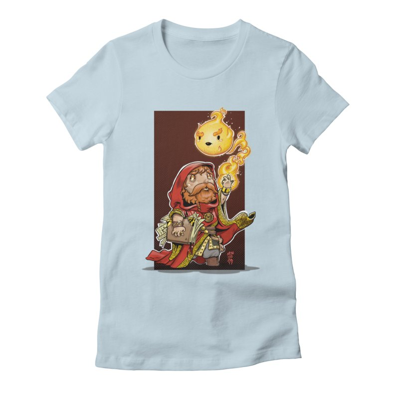 Pyromancer Women's Fitted T-Shirt by Little Ninja Studios, LLC