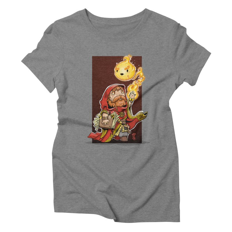 Pyromancer Women's Triblend T-Shirt by Little Ninja Studios, LLC