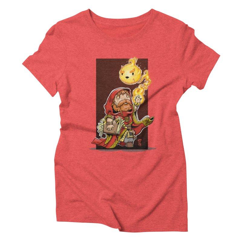Pyromancer Women's Triblend T-Shirt by Little Ninja Studios