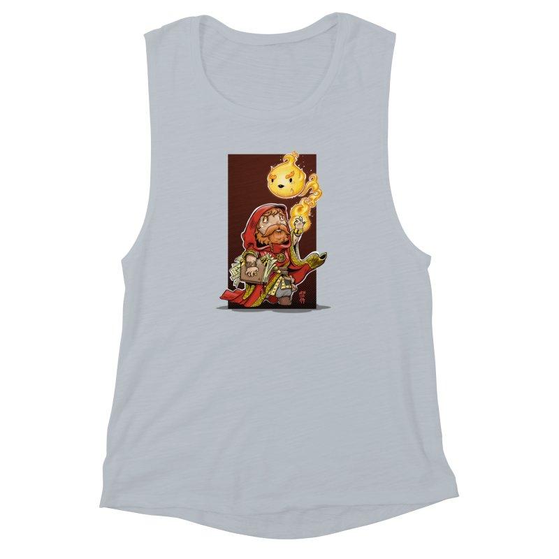 Pyromancer Women's Muscle Tank by Little Ninja Studios, LLC