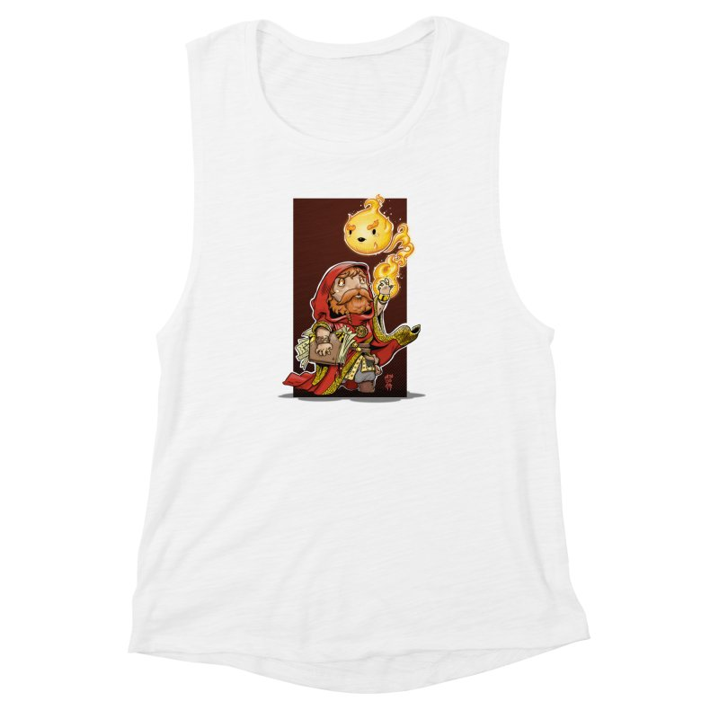 Pyromancer Women's Muscle Tank by Little Ninja Studios, LLC