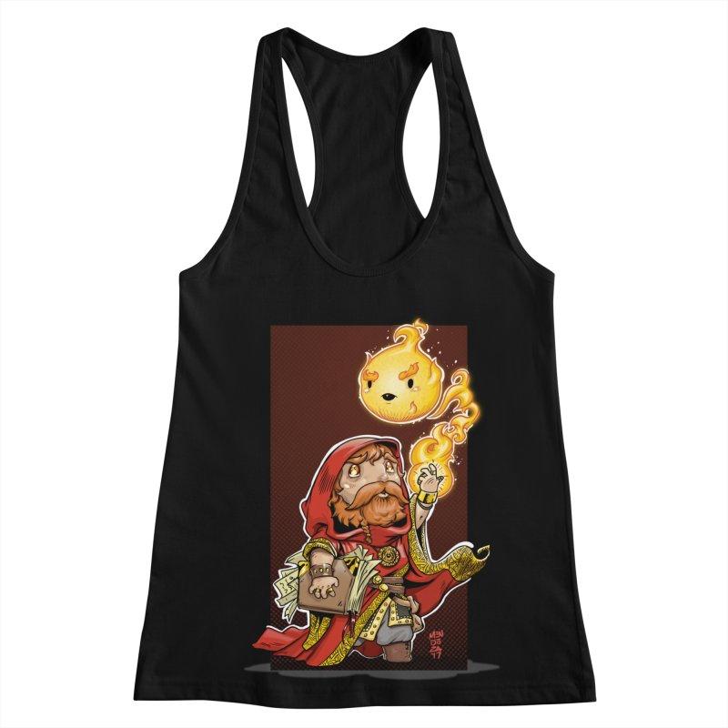 Pyromancer Women's Racerback Tank by Little Ninja Studios, LLC
