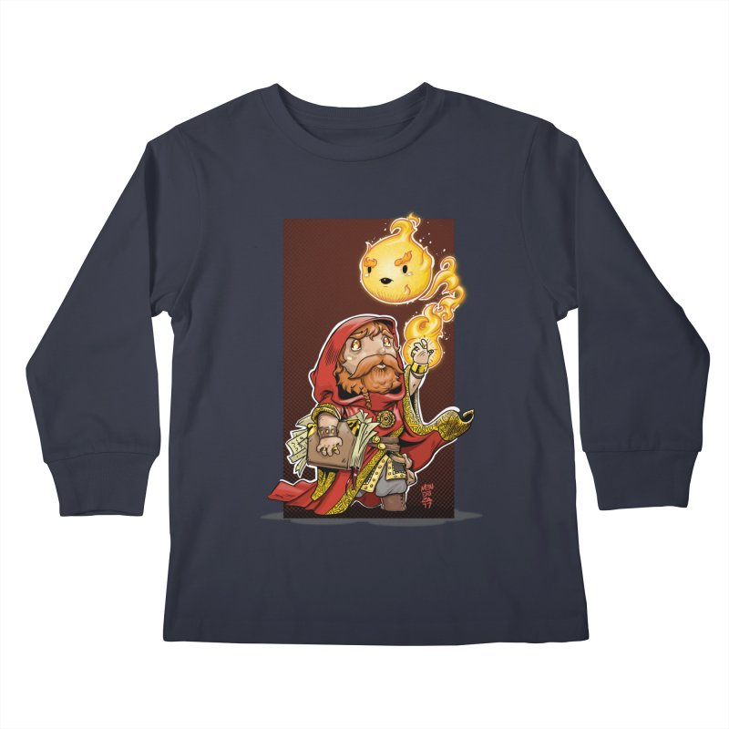 Pyromancer Kids Longsleeve T-Shirt by Little Ninja Studios