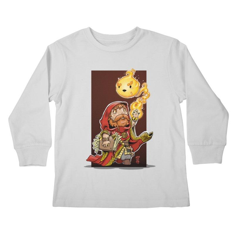 Pyromancer Kids Longsleeve T-Shirt by Little Ninja Studios, LLC