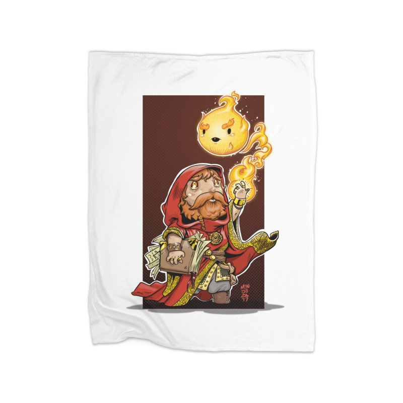 Pyromancer Home Fleece Blanket Blanket by Little Ninja Studios, LLC