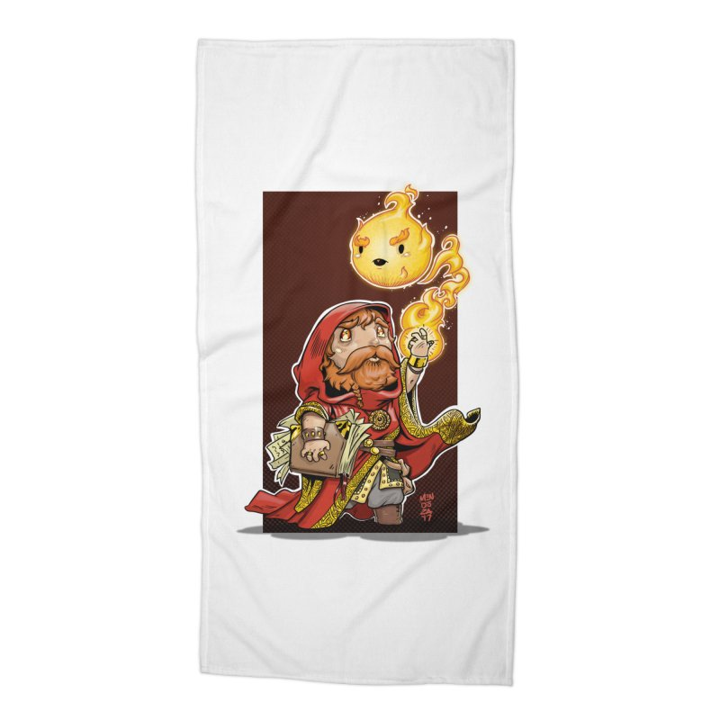 Pyromancer Accessories Beach Towel by Little Ninja Studios, LLC