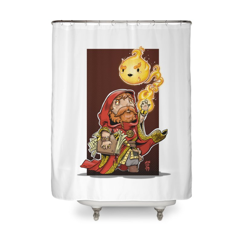 Pyromancer Home Shower Curtain by Little Ninja Studios, LLC