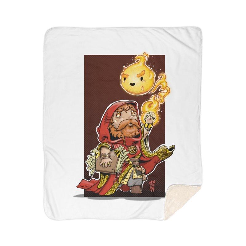 Pyromancer Home Sherpa Blanket Blanket by Little Ninja Studios