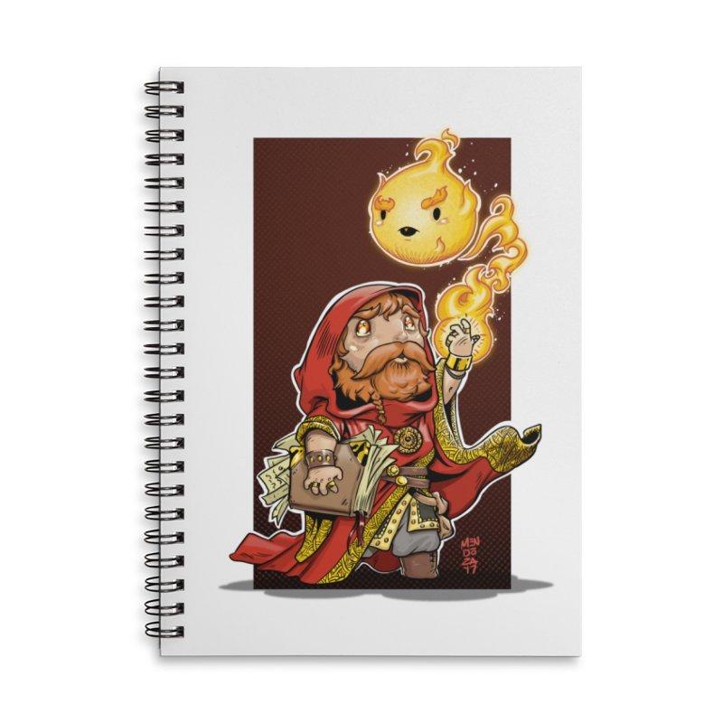 Pyromancer Accessories Lined Spiral Notebook by Little Ninja Studios, LLC