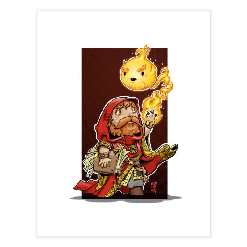 Pyromancer Home Fine Art Print by Little Ninja Studios, LLC