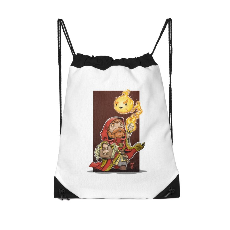 Pyromancer Accessories Drawstring Bag Bag by Little Ninja Studios