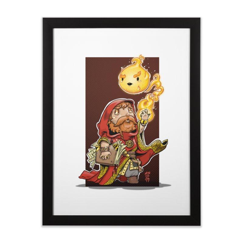 Pyromancer Home Framed Fine Art Print by Little Ninja Studios