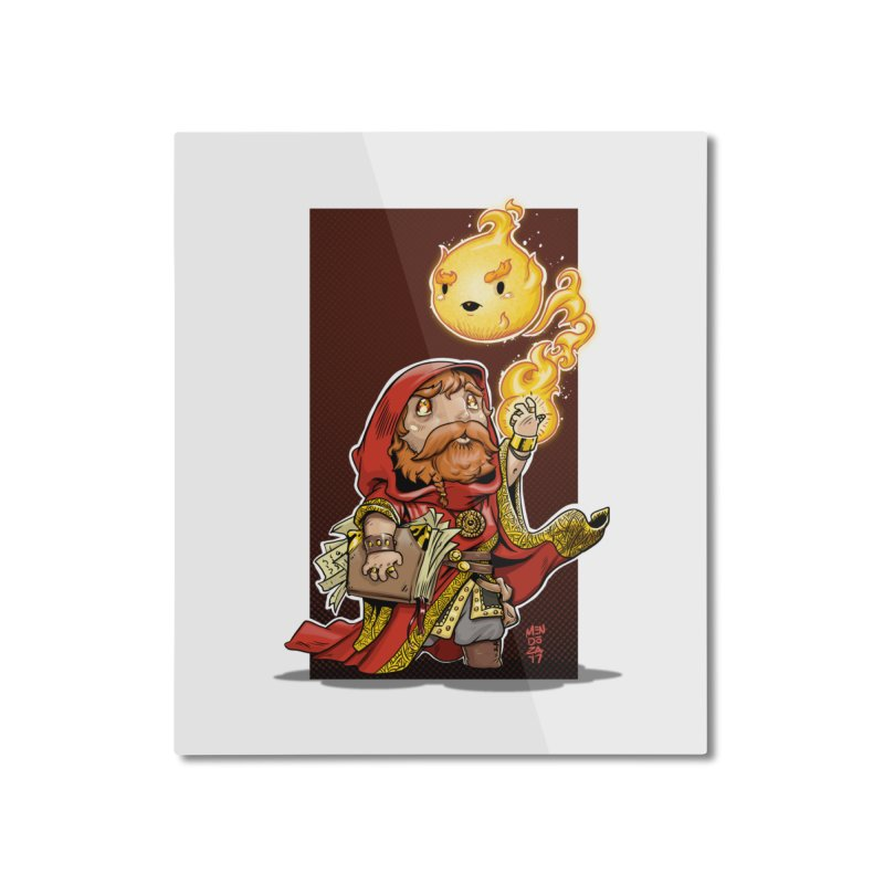 Pyromancer Home Mounted Aluminum Print by Little Ninja Studios