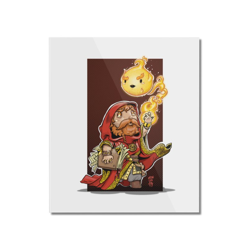 Pyromancer Home Mounted Acrylic Print by Little Ninja Studios, LLC