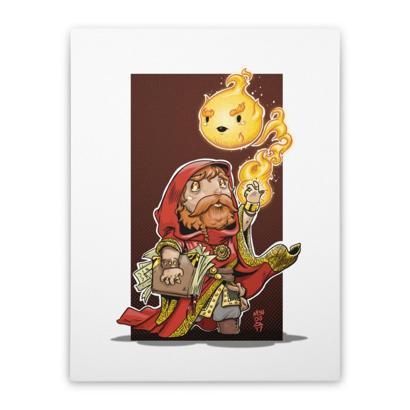 Pyromancer Home Stretched Canvas by Little Ninja Studios, LLC