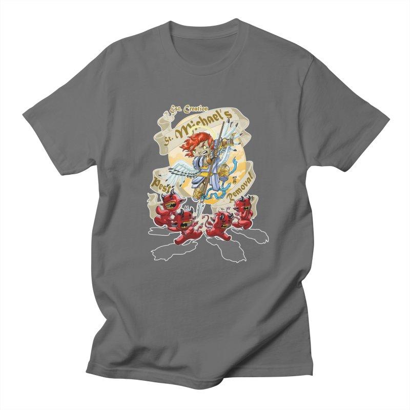 St. Michael's Pest Removal Men's T-Shirt by Little Ninja Studios, LLC
