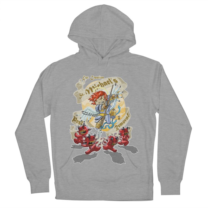 St. Michael's Pest Removal Women's French Terry Pullover Hoody by Little Ninja Studios, LLC