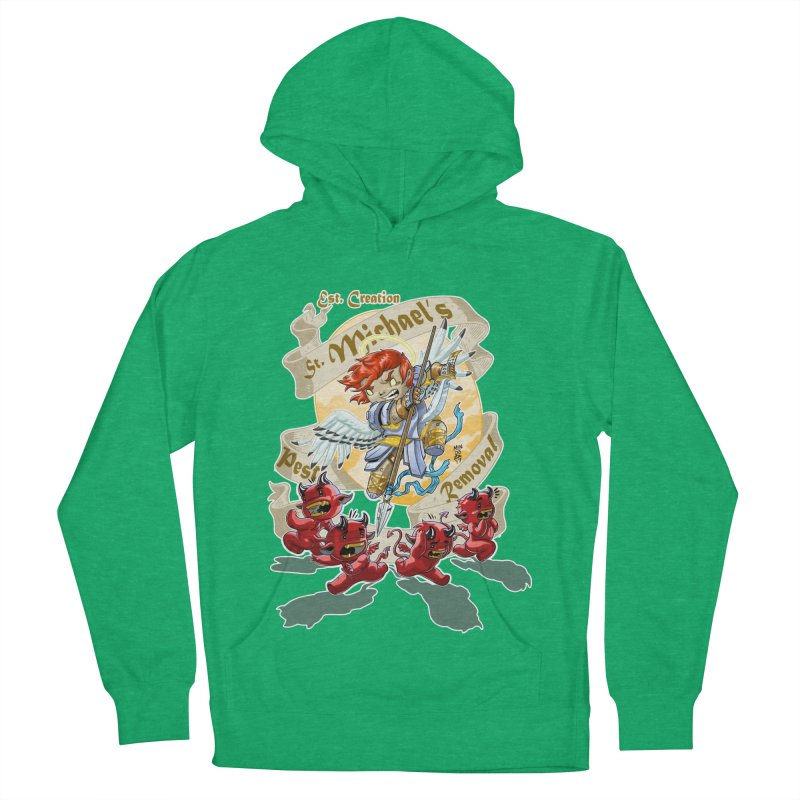 St. Michael's Pest Removal Men's French Terry Pullover Hoody by Little Ninja Studios