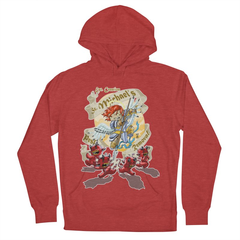 St. Michael's Pest Removal Men's French Terry Pullover Hoody by Little Ninja Studios, LLC