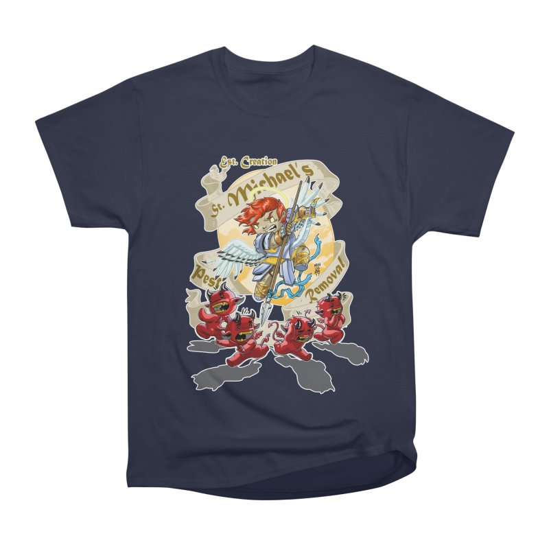 St. Michael's Pest Removal Men's Heavyweight T-Shirt by Little Ninja Studios